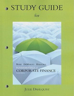 corporate finance study guide Lectures on corporate finance / by peter bossaerts & bernt arne 0degaard —  2nd ed  finance is study of the valuation and management of risk there are.