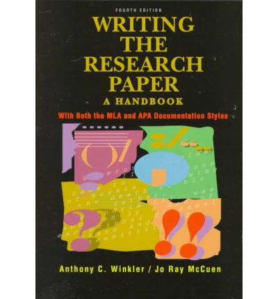 Writing the Research Paper : A Handbook