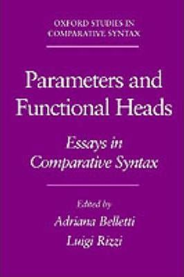 comparative in oxford parameter polysynthesis study syntax The polysynthesis parameter oxford: oxford university press google scholar: booij morphosyntactic change: a comparative study of particles and prefixes cambridge: syntax and phonology.