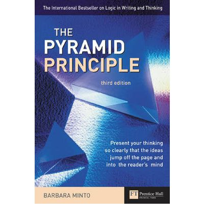 PYRAMID THE THINKING IN AND PRINCIPLE LOGIC WRITING