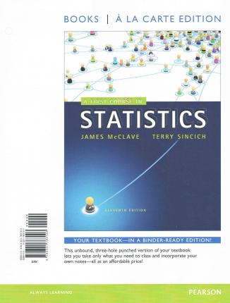A first course in statistices mcclave sincich homework help