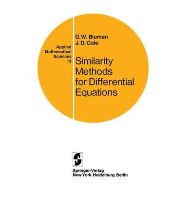 Similarity Methods for Differential Equations
