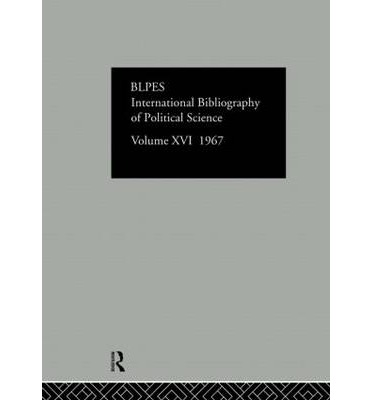 IBSS: Political Science 1967: Volume 16