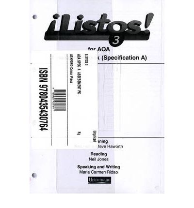 Listos! 3 AQA Specification A Assessment Pack