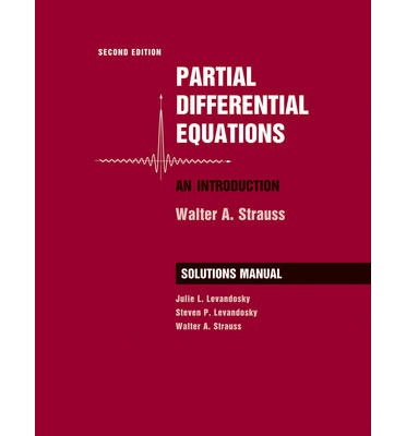 Partial differential equations strauss solutions manual