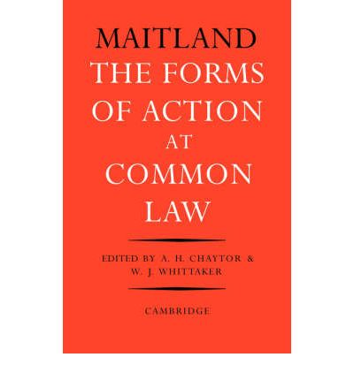 Forms of Action at Common Law