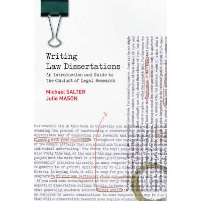 Dissertation writing law
