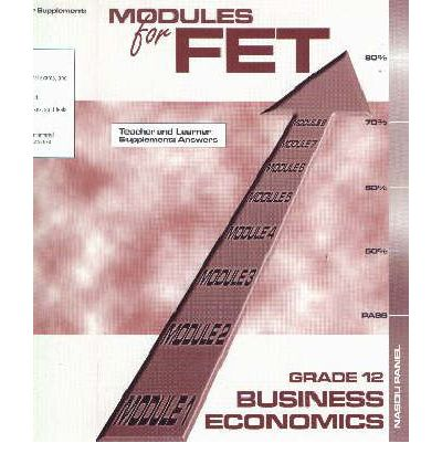 Modules for FET Business Economics: Gr 12: Memoranda and Answers