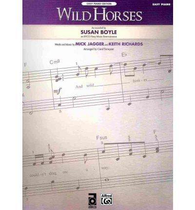 Wild Horses, Easy Piano Edition