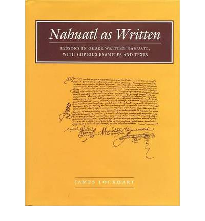Nahuatl as Written