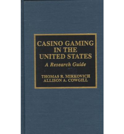 a research on gambling in the united states The ata journal of legal tax research: december 2014, vol 12, no  the  gambling industry (legal and illegal) in the united states has grown to be a major .