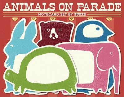 Animals on Parade Notecard Set by Sukie