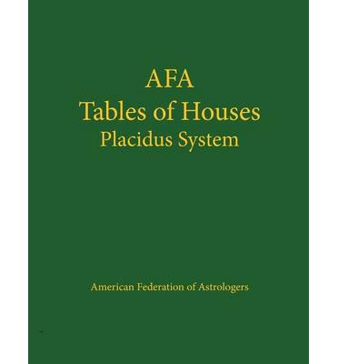 Afa Tables of Houses: Placidus System