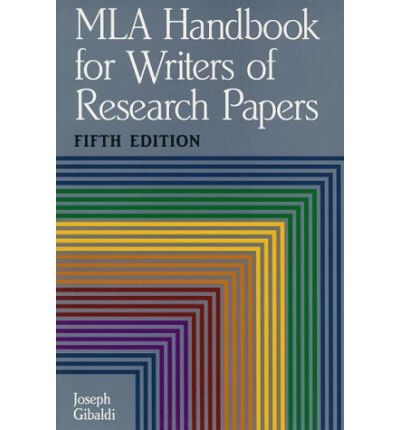 joseph garibaldi mla handbook of writers of research papers