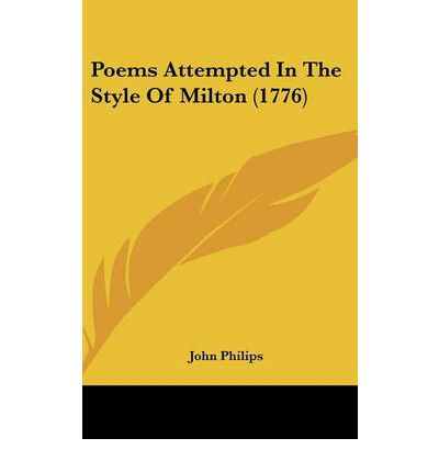 Poems Attempted In The Style Of Milton (1776)