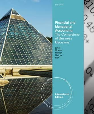 accounting for managerial decisions Fields of accounting accountants typically work in one of two major fields management accountants provide information and analysis to decision makers inside the organization in order to help them run it.
