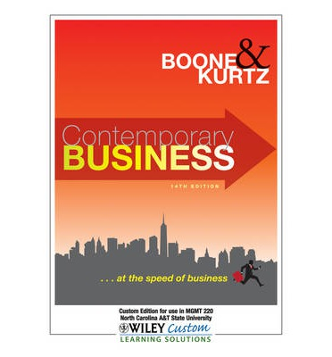 Contemporary Business : Custom Edition for Use in MGMT 220, North Carolina A&T State University