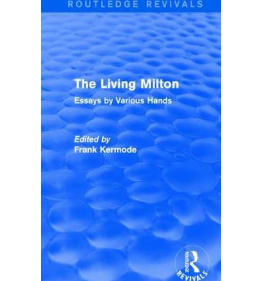 milton the poet essay In justification of his essay this great critic and poet remarked : that keats would have written a very great epic poem if milton had not preceded him.