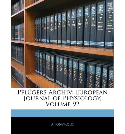 Pflugers Archiv : European Journal of Physiology, Volume 92