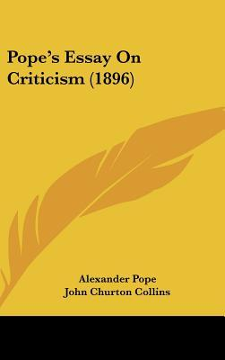pope an essay on criticism sparknotes