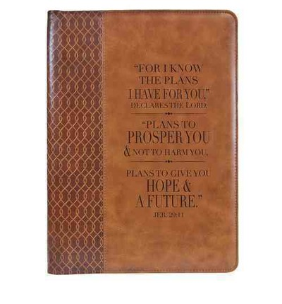 Brown Lux-leather Folder Plans Jeremiah 29:11