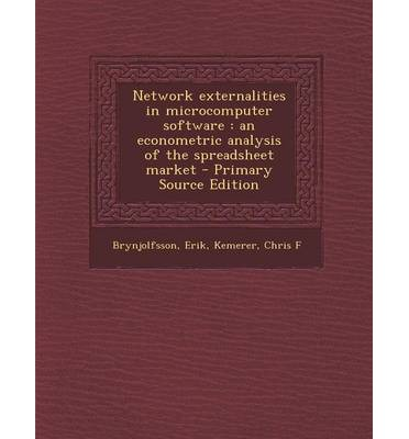 Network Externalities in Microcomputer Software