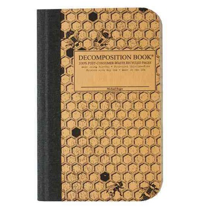 Honeycomb Pocket-size Decomposition Book : College-ruled Composition Notebook With 100% Post-consumer-waste Recycled Pages