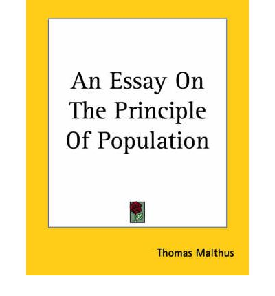 An essay on the principle of population maintained that