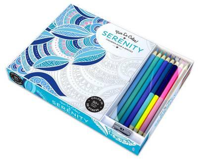 Vive le Color! Serenity (Coloring Book and Pencils) : Color Therapy Kit