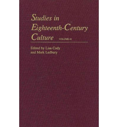 Studies in Eighteenth-century Culture: Volume 41