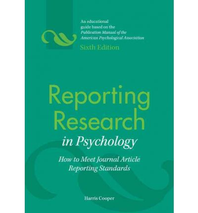 Reporting Research in Psychology