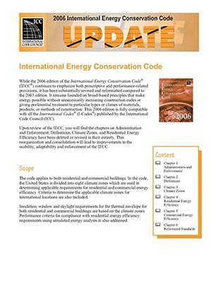 2006 International Energy Conservation Code Update