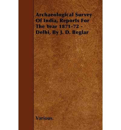 Archaeological Survey Of India, Reports For The Year 1871-72 - Delhi, By J. D. Beglar