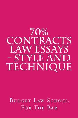 law contract essays Database of free law essays history of contract law the development of contract law into its modern conception is fundamentally based on the latin principle of.