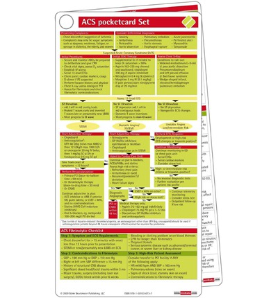 Acute Coronary Syndrome Pocketcard Set