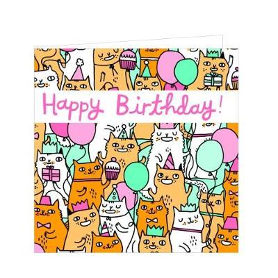 Greengift-Notes - Birthday Cats