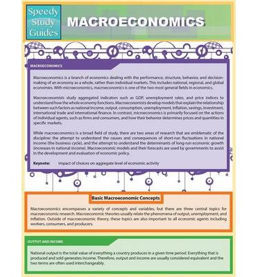Macroeconomics Study Guide: Books | eBay