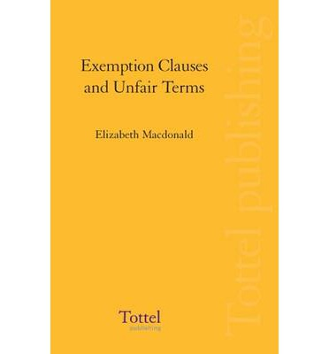 essay question on exemption clauses The final clause of the statute is void for vagueness city can fix the ordinance by simply deleting the last clause, or by replacing it with language that is specific enough to meet constitutional requirements.