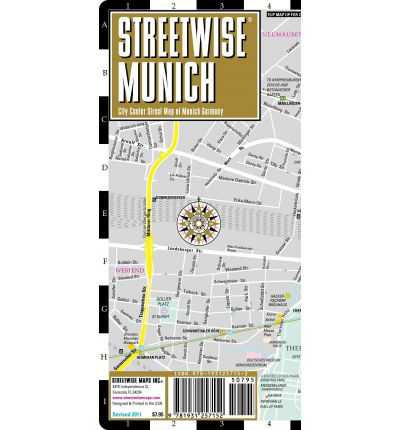 Streetwise Munich Map - Laminated City Street Map of Munich, Germany