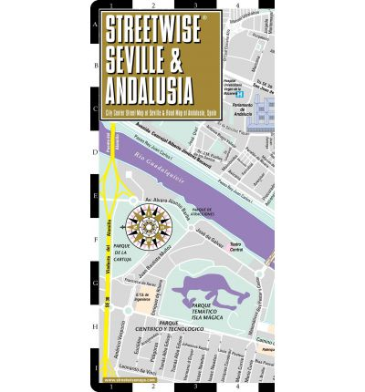 Streetwise Seville Map - Laminated City Center Street Map of Seville, Spain & Andalusia