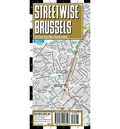 Streetwise Brussels Map Laminated City Center Street Map of Brussels, Belgium