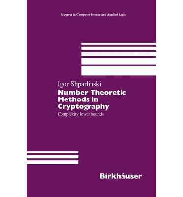 Number Theoretic Methods in Cryptography : Complexity Lower Bounds