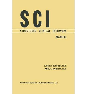 Sci, Structured Clinical Interview : Manual