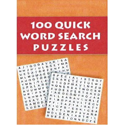 100 Quck Word Search Puzzles  Paperback  by Jordan, Sandra