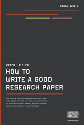 How to write a good thesis book