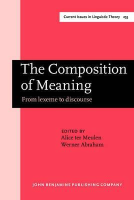 The composition of meaning alice ter meulen 9789027247698 for Meaning of terrace in english