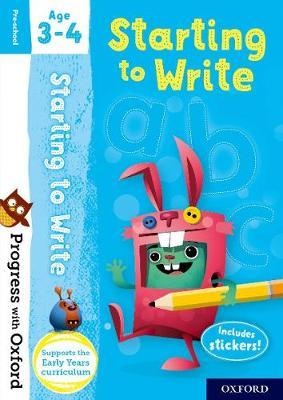 Progress with Oxford: Starting to Write Age 3-4