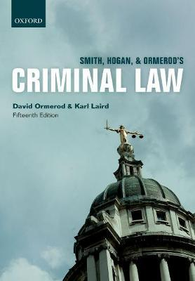 Smith, Hogan, & Ormerod's Criminal Law