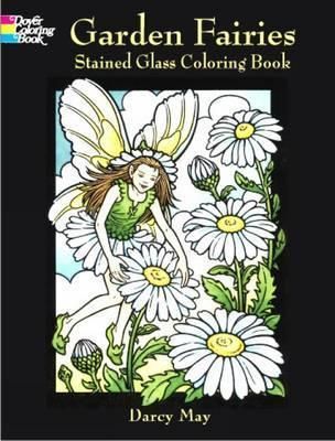 Garden Fairies Stained Glass Coloring Book