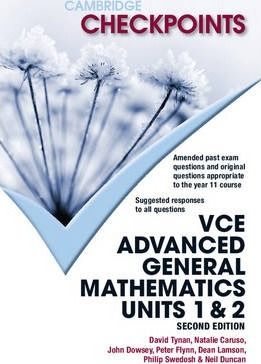 Cambridge Checkpoints VCE Advanced General Maths Units 1 and 2